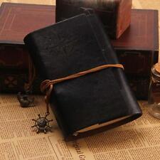 Portable Retro Handmade Journal Memo Dream Notebook Notepad Blank Diary Black KJ