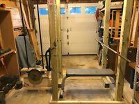 Build Your Own wood Power lifting rack and lat station includes Wendler 531 book