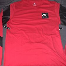 New Nike Pro Dri-Fit Men's Athletic Long Sleeve Shirt Red Size Large