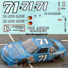 NASCAR DECAL #71 McGETRICK -  BIG APPLE MARKET 1992 LUMINA DAVE MARCIS JNJ