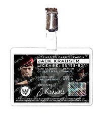 Resident Evil 4 Jack Krauser Weapons License ID Badge Card Cosplay Comic Con