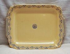 Old Vintage Serving Dish Platter Scalloped Edges Floral Pattern & Gold Trim MCM