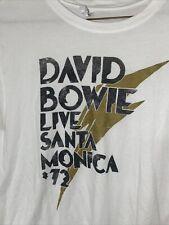 Bintage David Bowie Live Santa Monica '72 Tshirt, Sz Medium