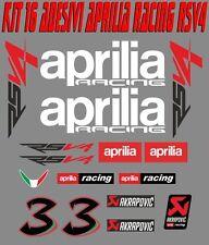 KIT 16 ADESIVI APRILIA RSV4 MOTO STICKERS APRILIA RSV4 Max Biaggi