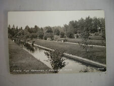 VINTAGE REAL PHOTO POSTCARD STATE FISH HATCHERY GRAYLING MICHIGAN UNUSED 1941