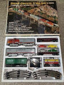 Marx 41821 Santa Fe Diesel Freight Set W/Car Carrier Tested Runs