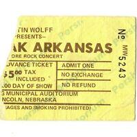 BLACK OAK ARKANSAS Concert Ticket Stub LINCOLN 9/29/72 PERSHING HOT & NASTY Rare