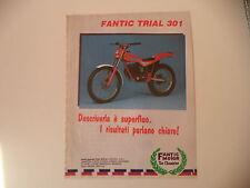 advertising Pubblicità 1985 MOTO FANTIC TRIAL 301