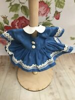 Vintage Tagged Vogue Dolls Inc Ginny Dress With Separate Collar