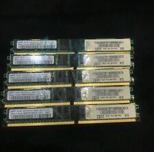 4GB Lot of 6 Samsung PC3-10600R-09-10-E1-D2 TESTED *EH10218 M393B5170EH1-CH9