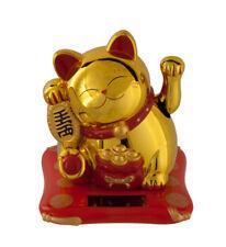 Katze Japanische 16 CM Golden Glücksbringer Maneki Neko Animierte Solar- 556