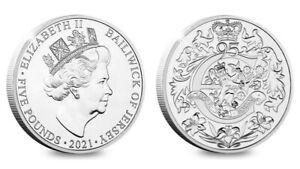 2021 Jersey - Queen Elizabeth II 95th Birthday £5 Five Pound BUNC Coin - Mint BU
