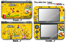 Super Mario New Bros Skin Sticker Cover Decal #2 for NEW Nintendo 3DS XL (2015)