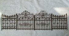Antique Metal Miniature Fence Pieces Lot of 4