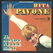 """Rita Pavone : Il mondo nelle mani / Il Ballo dell'orso - vinile 45 giri / 7"""""""