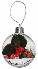 Poodle, Christmas Decorations 'Love You Mum' Christmas Tree Bauble, AD-POD3lymCB