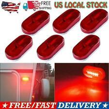 6Pcs Red 6LED Side Marker Light 4