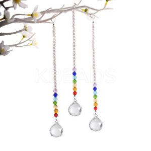 Suncatcher Window Prism Crystal Ball Rainbow Pendant/Car Ornament USA SELLER