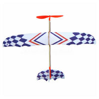 Elastic Rubber Band Powered DIY Foam Plane Model Kit Aircraft Educational S3I4