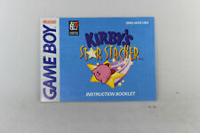 Kirby's Star Stacker Manual (Game Boy, Manual Only, ***NO GAME***)
