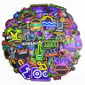 50PCS Neon Sign Stickers Bomb Graffiti Decals Pack Laptop Car Luggage Skateboard