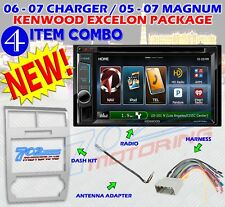 KENWOOD DNX572BH SILVER MAGNUM CHARGER RADIO STEREO CAR INSTALL DASH 2 DIN PKG