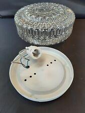 Moulded Glass Flush Ceiling Light - suit hallway or bathroom