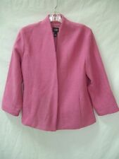EILEEN FISHER Textured Pink Stretch Virgin Wool Jacket sz S