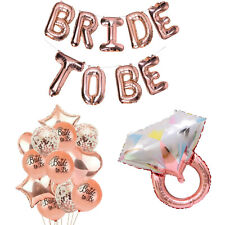 Rose Gold Bridal Shower Decorations | Bride to Be Banner Engagement Ring Balloon