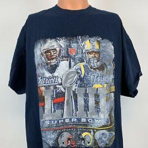 Tom Brady Aaron Donald NFL. Super Bowl T Shirt New England Patriots LA Rams XL