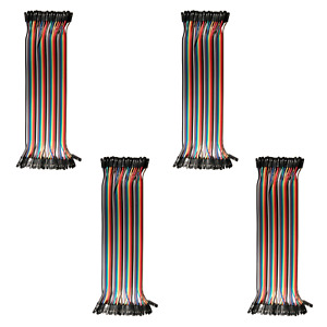 4pk 40-Wire Female-Female Jumper Wire; 40P Color Wires Ribbon Cable Arduino USA
