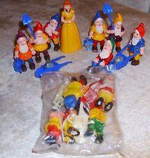 Vintage Hong Kong Snow White Princess & Dwarves Gnomes Cake Topper Decorations