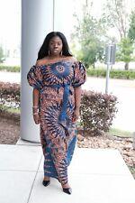 Women African veroex off shoulder Lady Evening Long Maxi party Dress.