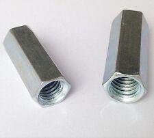 2Pcs M5 x 0.8(pitch) x 20mm Long Rod Coupling Hex Nut Right hand Thread