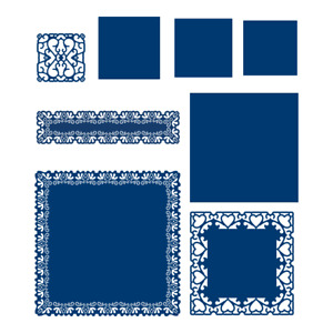 tattered lace Square Lace Panel die (507640)