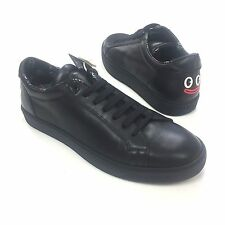 NWT Moncler Friends With You Black Leather Malfi COLLECTORS Sneakers AUTHENTIC