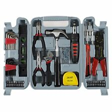 Household Hand Tools, 130 Piece Tool Set by Stalwart, Set Includes – Hammer
