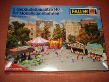 Faller H0 1/87 5 Gebäudebausätze Set Dorfkirmes Neu OVP ungeöffnet Modellbausatz