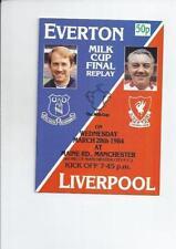 Everton League Cup Home Teams C-E Final Football Programmes