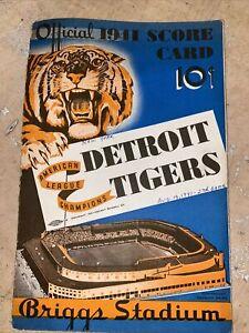 1941 detroit tigers new york yankees score card dimaggio mlb