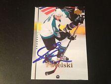 Joe Pavelski Sharks 2007-08 UD Upper Deck Hockey Signed Auto Card