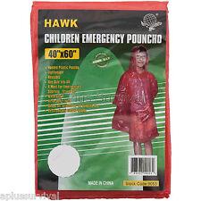2 Pack Kids Childrens Emergency Poncho Emergency Survival Kit School Camping
