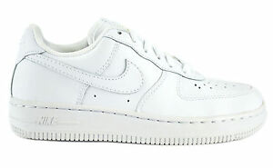NIKE AIR FORCE 1 (PS) WHITE PRESCHOOL KIDS SNEAKERS SHOES LEATHER 314193-117