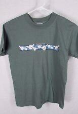 Hang Loose Olive  Army Green T-Shirt Hawaii Boys child Size Medium 10-12