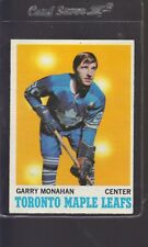1970-71 TOPPS #112 GARRY MONAHAN EX-MT+ MAPLE LEAFS