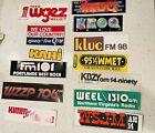 160 Vintage Radio Station Promo Stickers, KROQ, KZAP, Too Many To List