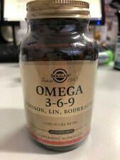 SOLGAR Oméga 3-6-9 (huile de poisson, bourrache et lin) 60 softgels 02/2022