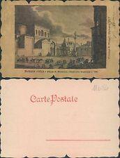 BOLOGNA ANTICA - PIAZZA S.DOMENICO - CAVALLERIA AUSTRIACA -  (rif.fg.11684)