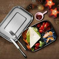 1200ml Stainless Steel Bento Box Lunch Container 3-Compartment Bento Lunch Boxes
