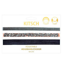 Kitsch Adjustable Headband & Choker Peach 3s NEW